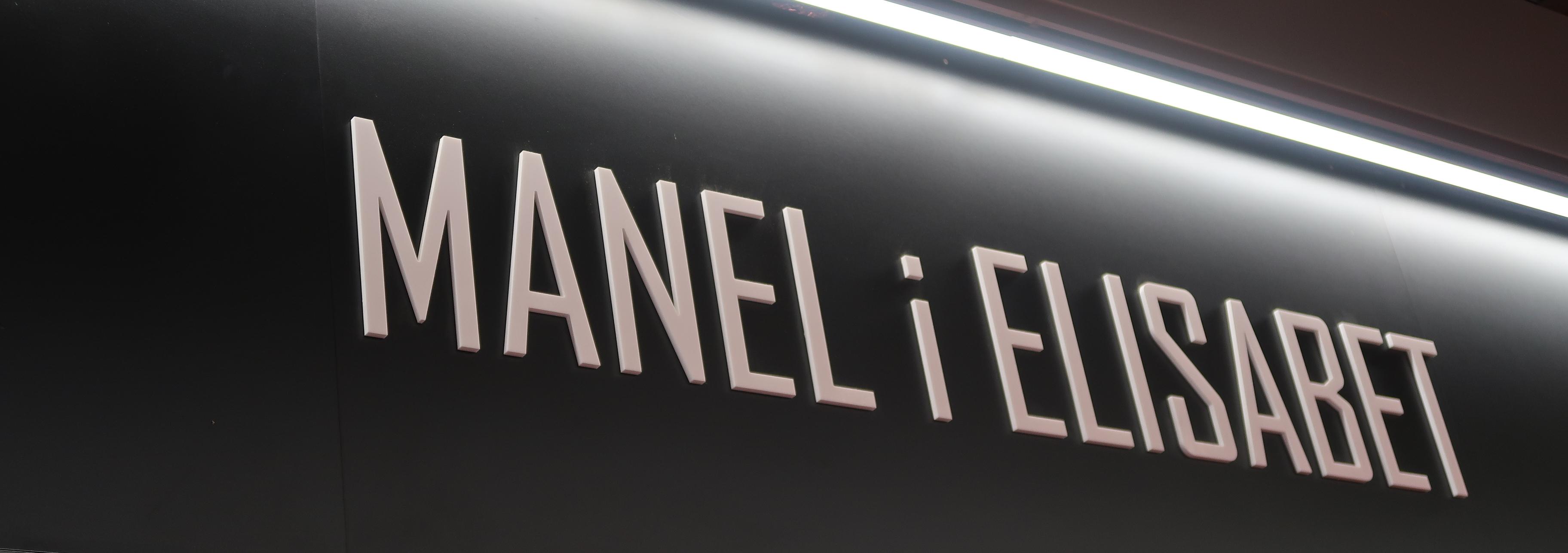 Manel i Elisabet shop sign, San Antoni market, Barcelona