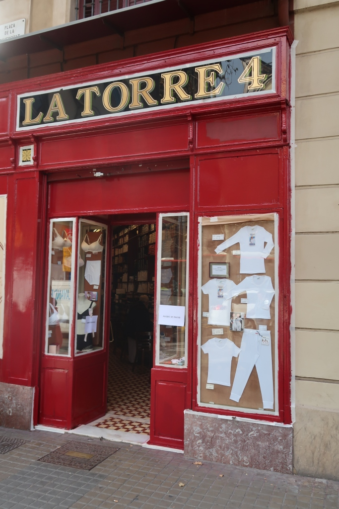 La Torre undergarments shop, Ronda de San Antoni, Barcelona