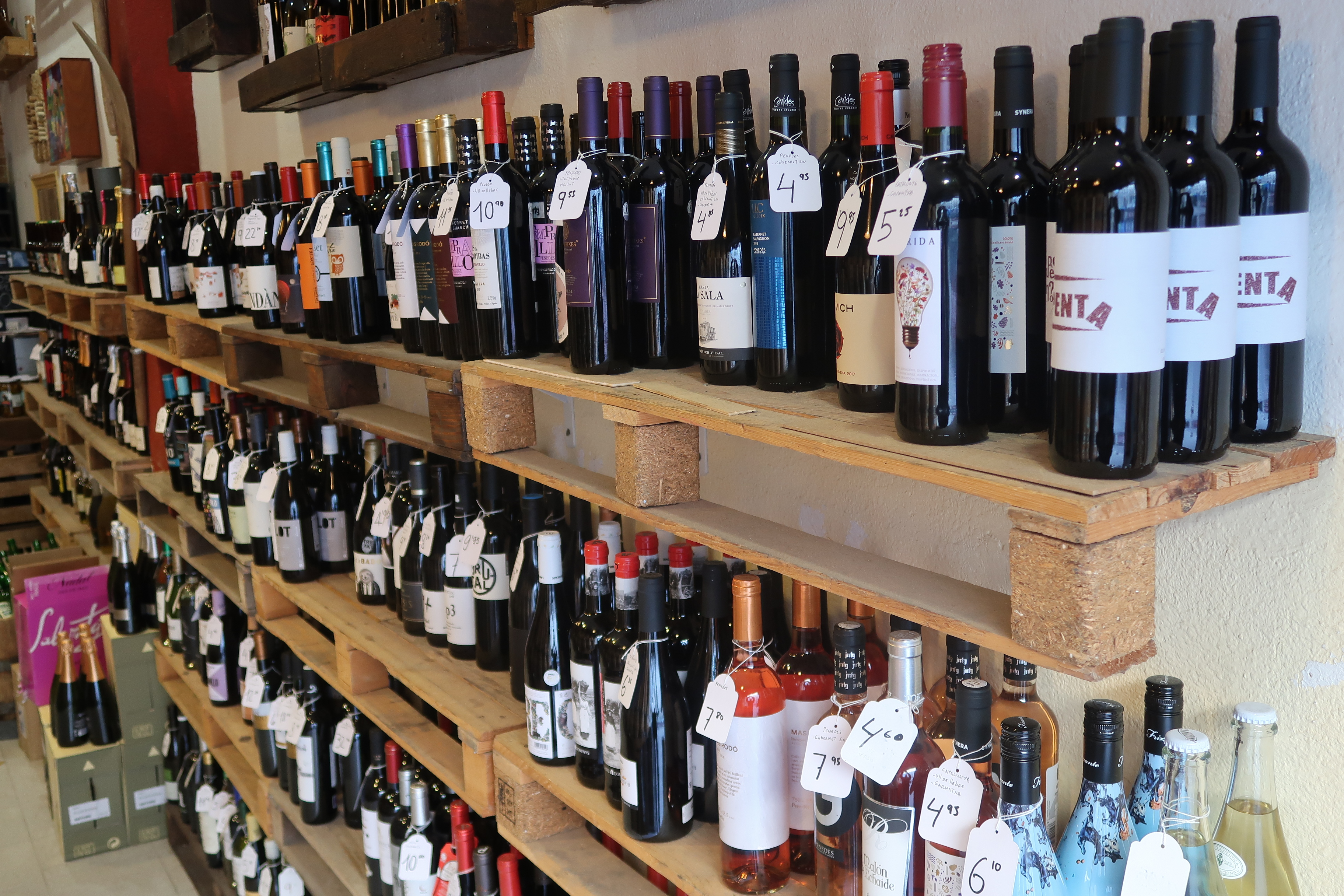 Various wines to choose from, Celler de Ronda, Barcelona