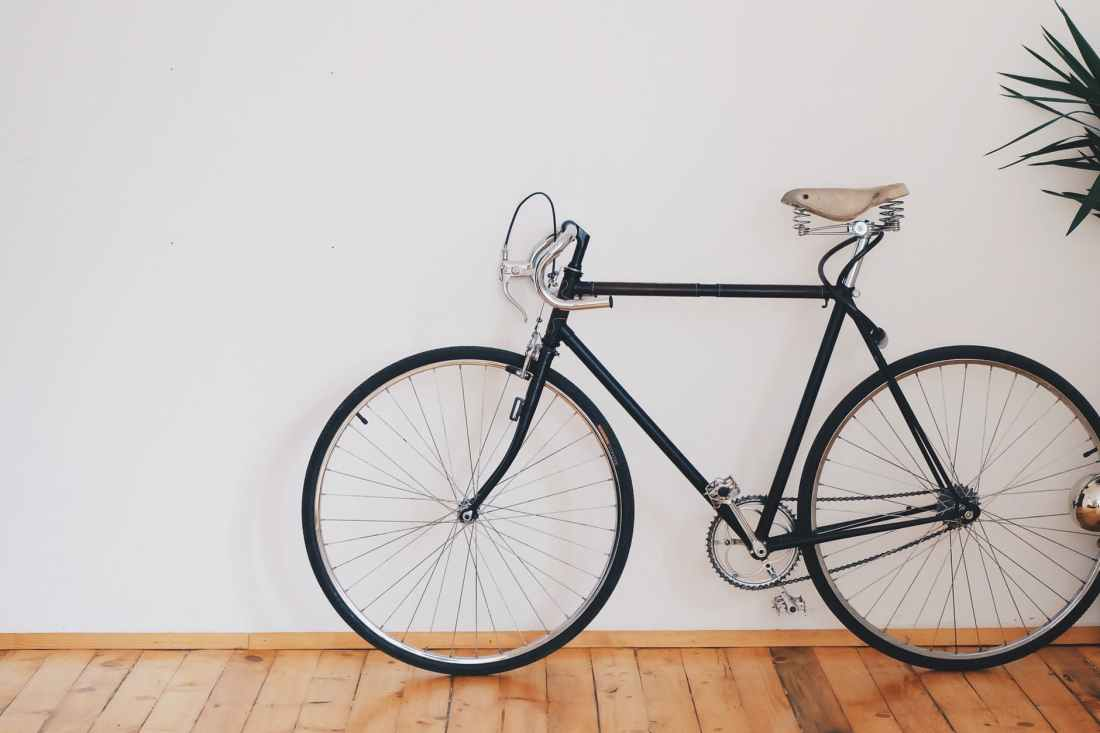 A racing bicycle