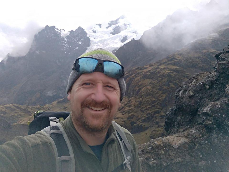 Tom hiking in Lares, Peru