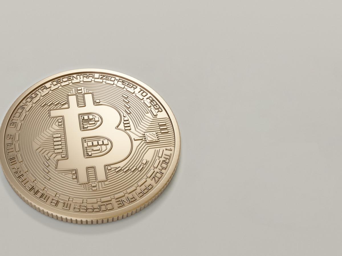 An imagined Bitcoin on a table