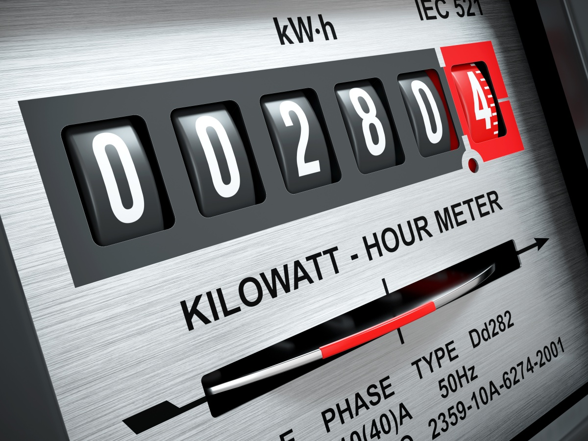 Electricity kilowatt hour meter